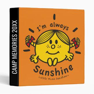 Little Miss Sunshine | I'm Always Sunshine Vinyl Binders