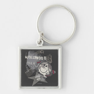Little Miss Sunshine In Hollywood Silver-Colored Square Keychain