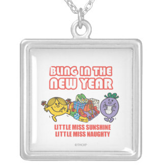 Little Miss Sunshine & Little Miss Naughty Silver Plated Necklace