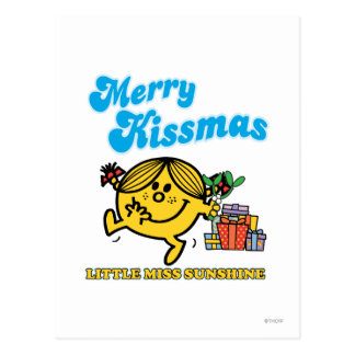 Little Miss Sunshine | Merry Kissmas Postcard