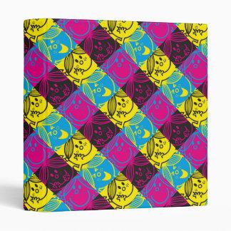 Little Miss Sunshine | Neon Pattern 3 Ring Binder