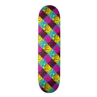 Little Miss Sunshine | Neon Pattern Custom Skateboard