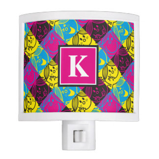 Little Miss Sunshine | Neon Pattern | Monogram Night Lite