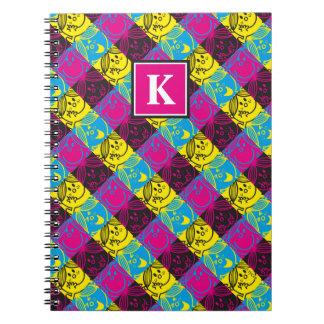 Little Miss Sunshine | Neon Pattern | Monogram Notebook