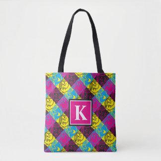 Little Miss Sunshine | Neon Pattern | Monogram Tote Bag