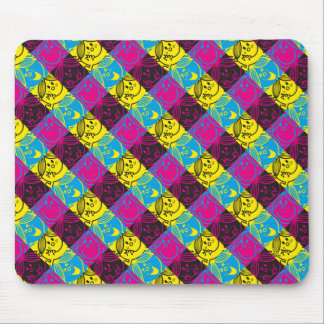 Little Miss Sunshine | Neon Pattern Mouse Pad