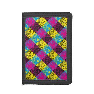 Little Miss Sunshine | Neon Pattern Tri-fold Wallet