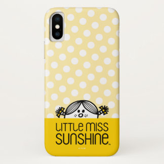 Little Miss Sunshine Peeking Over Name iPhone X Case