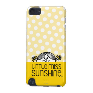 Little Miss Sunshine Peeking Over Name iPod Touch 5G Case