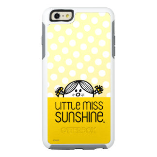 Little Miss Sunshine Peeking Over Name OtterBox iPhone 6/6s Plus Case
