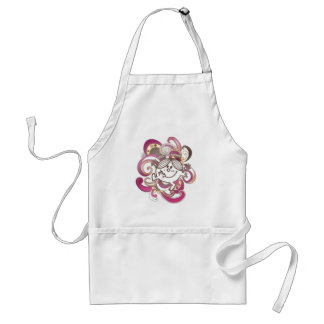 Little Miss Sunshine | Pink Swirls Standard Apron
