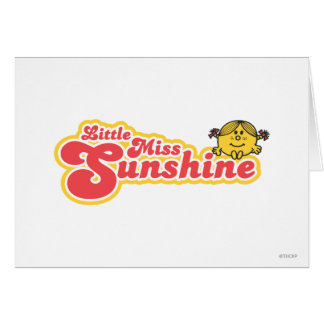 Little Miss Sunshine | Red Bubble Lettering Greeting Card