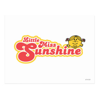 Little Miss Sunshine | Red Bubble Lettering Postcard