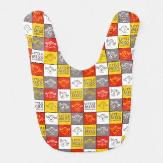 Little Miss Sunshine | Red & Yellow Pattern Bib