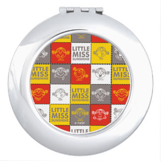 Little Miss Sunshine | Red & Yellow Pattern Compact Mirror