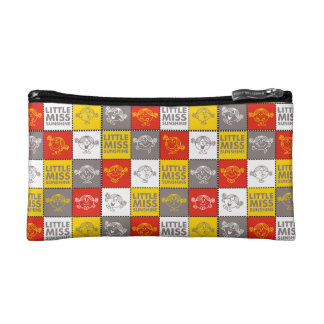 Little Miss Sunshine | Red & Yellow Pattern Cosmetic Bag
