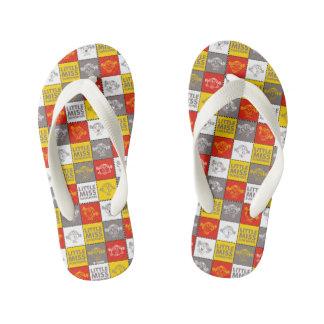 Little Miss Sunshine | Red & Yellow Pattern Kid's Flip Flops