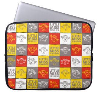 Little Miss Sunshine   Red & Yellow Pattern Laptop Sleeve