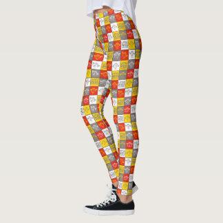 Little Miss Sunshine | Red & Yellow Pattern Leggings