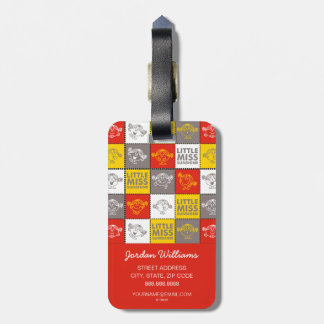Little Miss Sunshine | Red & Yellow Pattern Luggage Tag