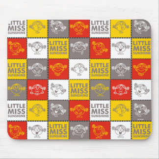 Little Miss Sunshine | Red & Yellow Pattern Mouse Pad