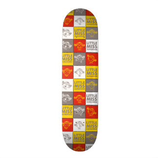 Little Miss Sunshine | Red & Yellow Pattern Skate Deck
