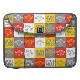 Little Miss Sunshine   Red & Yellow Pattern Sleeve For MacBook Pro