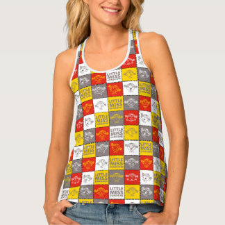 Little Miss Sunshine | Red & Yellow Pattern Tank Top