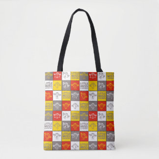 Little Miss Sunshine | Red & Yellow Pattern Tote Bag