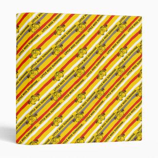 Little Miss Sunshine | Red, Yellow Stripes Pattern Binder