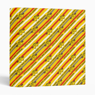 Little Miss Sunshine | Red, Yellow Stripes Pattern Binders