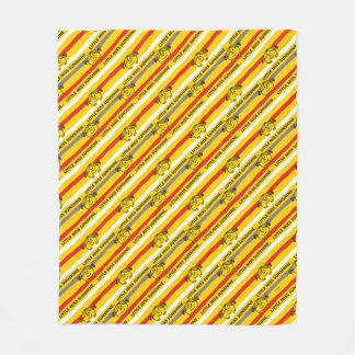 Little Miss Sunshine | Red, Yellow Stripes Pattern Fleece Blanket