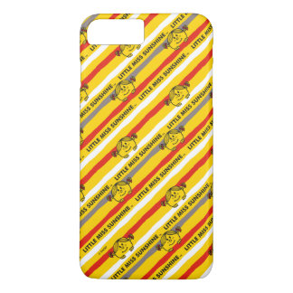 Little Miss Sunshine | Red, Yellow Stripes Pattern iPhone 8 Plus/7 Plus Case