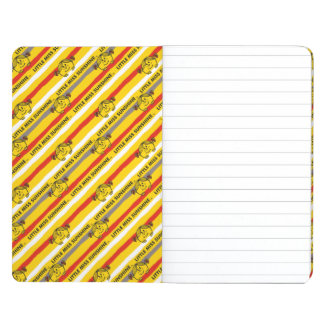 Little Miss Sunshine | Red, Yellow Stripes Pattern Journal