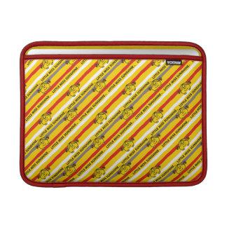 Little Miss Sunshine | Red, Yellow Stripes Pattern MacBook Sleeve