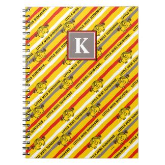 Little Miss Sunshine | Red, Yellow Stripes Pattern Notebook