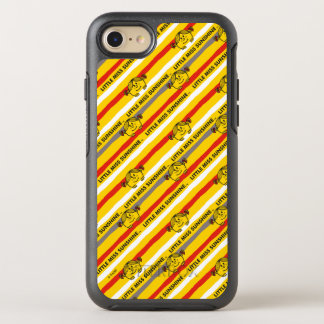Little Miss Sunshine   Red, Yellow Stripes Pattern OtterBox Symmetry iPhone 7 Case