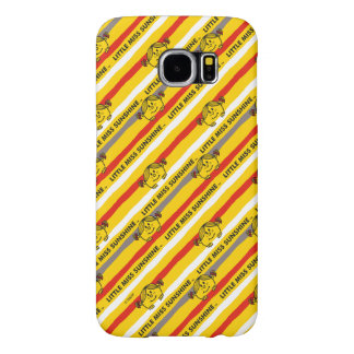 Little Miss Sunshine | Red, Yellow Stripes Pattern Samsung Galaxy S6 Cases