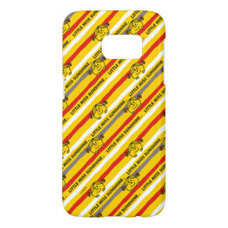 Little Miss Sunshine | Red, Yellow Stripes Pattern Samsung Galaxy S7 Case