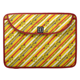 Little Miss Sunshine | Red, Yellow Stripes Pattern Sleeve For MacBook Pro