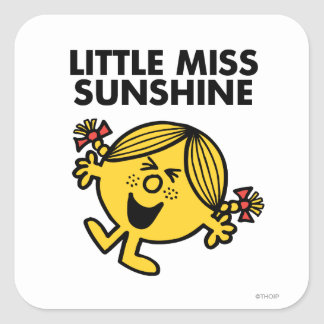 Little Miss Sunshine Square Sticker