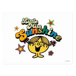 Little Miss Sunshine Stars & Flowers Post Card
