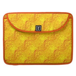 Little Miss Sunshine | Sunny Yellow Pattern Sleeve For MacBook Pro