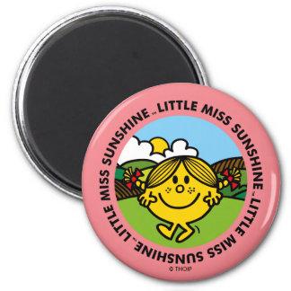 Little Miss Sunshine | Sunshine Circle 2 Inch Round Magnet