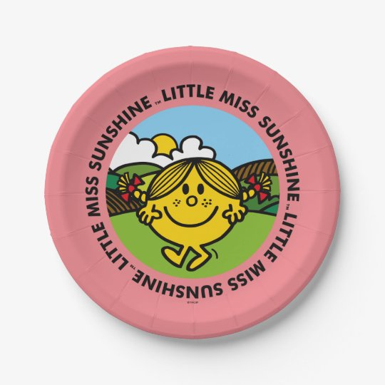 Little Miss Sunshine | Sunshine Circle 7 Inch Paper Plate