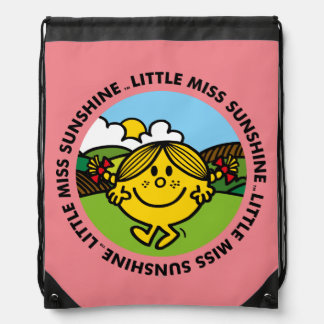 Little Miss Sunshine   Sunshine Circle Drawstring Bag