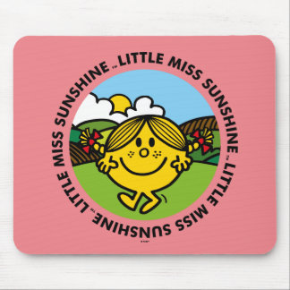 Little Miss Sunshine | Sunshine Circle Mouse Pad