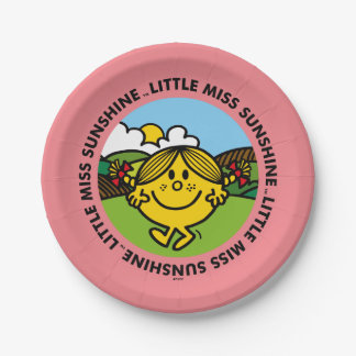 Little Miss Sunshine | Sunshine Circle Paper Plate
