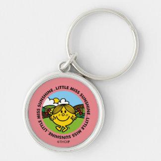 Little Miss Sunshine | Sunshine Circle Silver-Colored Round Keychain