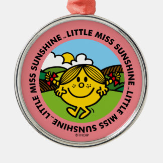 Little Miss Sunshine | Sunshine Circle Silver-Colored Round Ornament